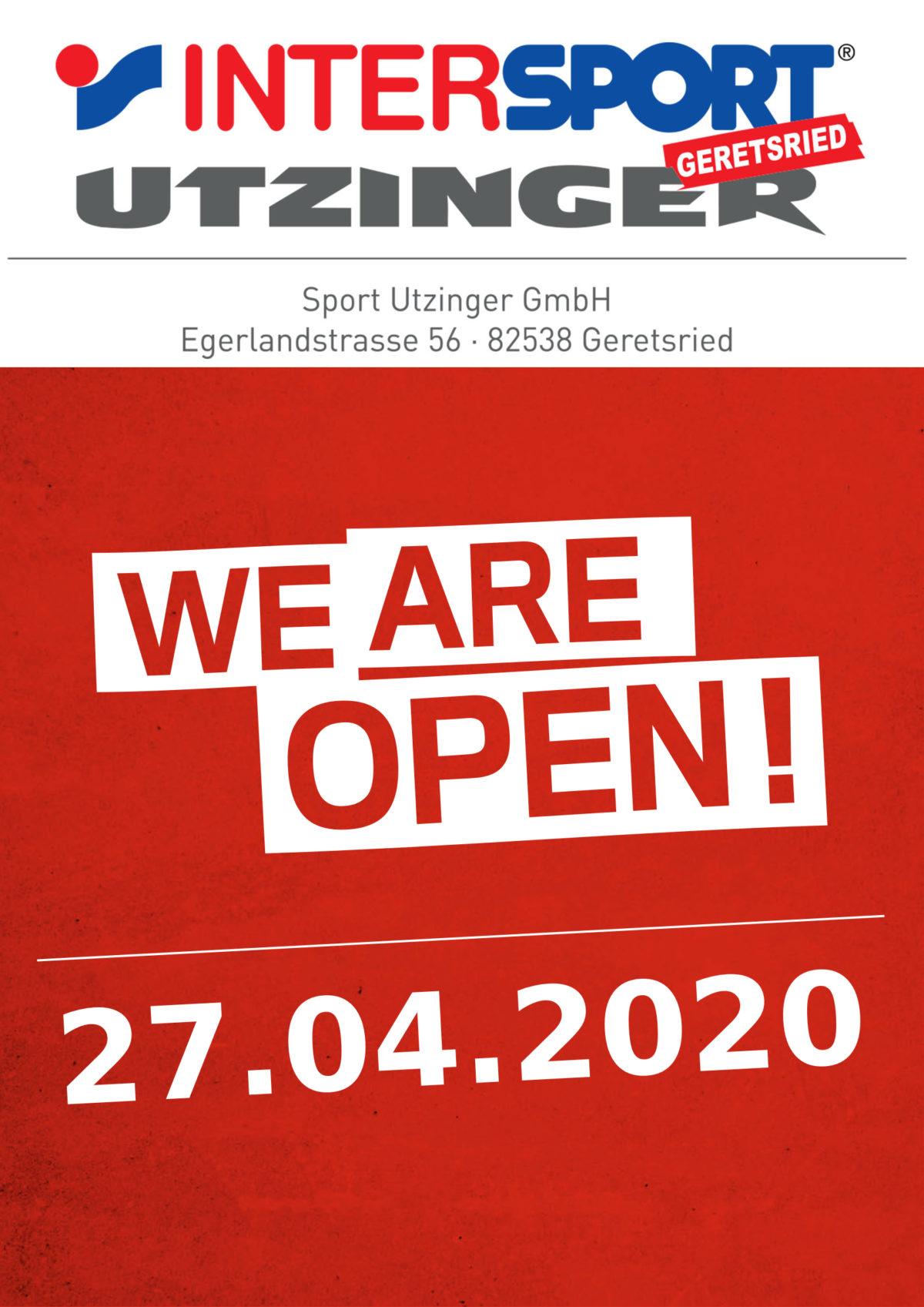 Wieder geöffnet ab 27.04.2020