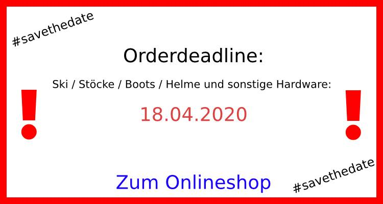 Order Deadline im Rennsport Shop: 18.04.2020